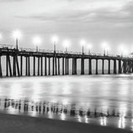 Panoramic Huntington Pier Black and White Photo - Paul Velgos