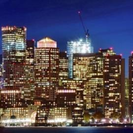 Frozen in Time Fine Art Photography - Panoramic Lights on a Boston Night