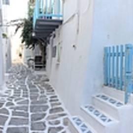 Colette V Hera  Guggenheim  - Panoramic Naoussa village Paros