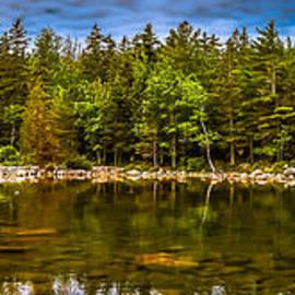 Claudia Mottram - Panoramic view of Jordan Pond in Acadia