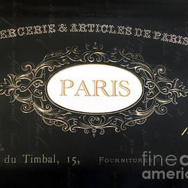 Paris Black and White Gold Typography - French Script Paris Decor - Kathy Fornal