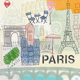Paris Cityscape- Art by Linda Woods - Linda Woods