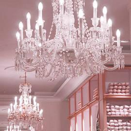 Paris Crystal Chandelier Pink Sparkling Chandelier - Repetto Ballet Shop Pink Crystal Chandelier - Kathy Fornal