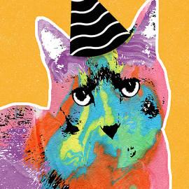 Party Cat- Art by Linda Woods - Linda Woods