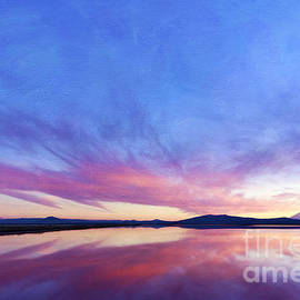 Reflective Moment Photography And Digital Art Images - Pastel Sunset