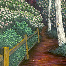 Michele Fritz - Pathway Home through Mountain Laurel Blooms