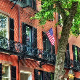 Joann Vitali - Patriotic Beacon Hill Brownstones - Boston