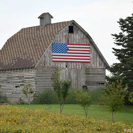 Kathy M Krause - Patriotic Corn Crib