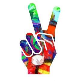 Peace Hippy Paint Hand Sign - Edward Fielding