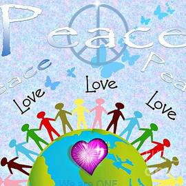 Bobbee Rickard - Peace We Are One Poster