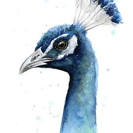 Peacock Watercolor - Olga Shvartsur