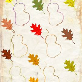 Kathy Barney - Pears and Autumn Leaves