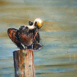 Shirley Sykes Bracken - Pelican on the Pier