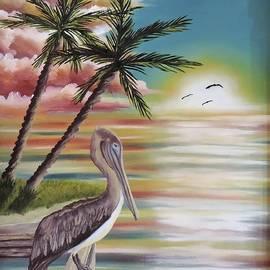 Dianna Lewis - Pelican Sunset