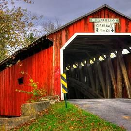 Michael Mazaika - Pennsylvania Country Roads - Dellville Covered Bridge Over Sherman Creek No. 17 - Perry County