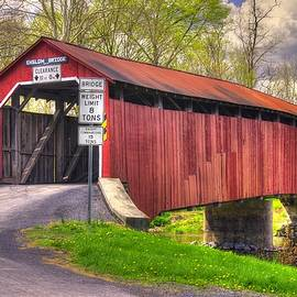 Michael Mazaika - Pennsylvania Country Roads - Enslow Covered Bridge Over Sherman Creek No. 2A-Alt - Perry County