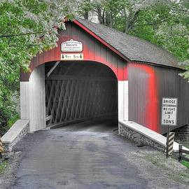 Michael Mazaika - Pennsylvania Country Roads - Knechts Covered Bridge Over Cooks Creek No. 3A-Alt - Bucks County