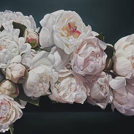 Thomas Darnell - Peonies 92 x 153 cm