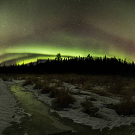 Jakub Sisak - Perry Bay Aurora Sleeping Giant Panorama