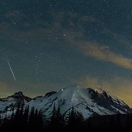 Angie Vogel - Perseids Over Mt Rainier