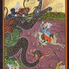 A K Mundra - Persian Illuminated Manuscript Miniature Islamic Art Handmade Muslim Painting