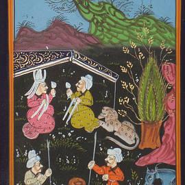 A K Mundra - Persian Islamic Painting Rare Illuminated Manuscript Indo Miniature Hunt Art