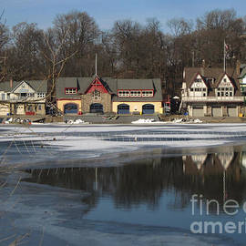 Clay Cofer - Philadelphia Boathouses in Winter