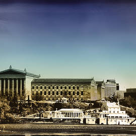 Bill Cannon - Philadelphia Museum of Art and the Fairmount Waterworks From West River Drive