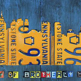 Philadelphia Pennsylvania Skyline License Plate Art Edition 2016 - Design Turnpike