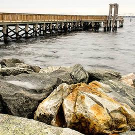 Nancy de Flon - Pier and Rocks at Colt State Park