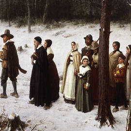 Pilgrims Going to Church, 1867 - George Henry Boughton