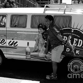Jennifer Mecca - Pin up Girl Vodka and a VW bus