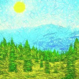 Joel Bruce Wallach - Pines On Mountain - Mount Shasta California