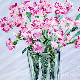 Oksana Semenchenko - Pink Carnations in a Vase. For sale