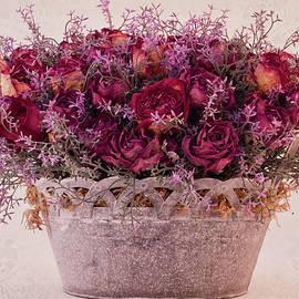 Sandra Foster - Pink Dried Roses Floral Arrangement