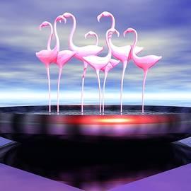 John Pangia - Pink Flamingos