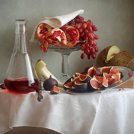 Nikolay Panov - Pink Grapes, Pomegranates and Figs