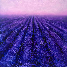 Karen Whitworth - Pink Skies - Lavender Fields