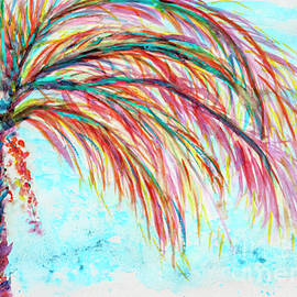 CheyAnne Sexton - Pink Turquoise Palm Tree watercolor