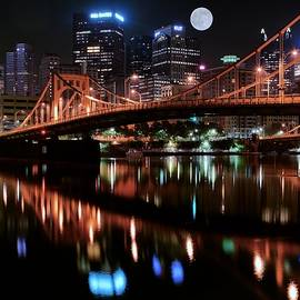 Frozen in Time Fine Art Photography - Pittsburgh Full Moon