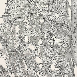 Plan of the Battle of Pittsburg Landing - American School