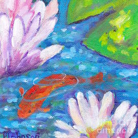 Peggy Johnson - Playful Koi - Miniature Painting