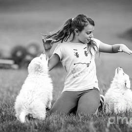 Ning Mosberger-Tang - Playing with puppies