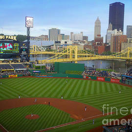 Shelly Weingart - PNC Park Pittsburgh Pirates Ball Field and Skyline