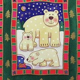 Polar Bear and Cubs - Cathy Baxter