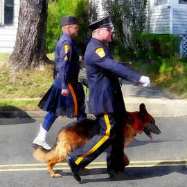 Policeman and Dog in Parade