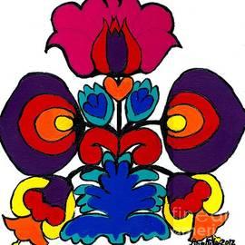 Ania M Milo - Polish Folk Art Flower I