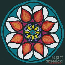 Ania M Milo - Polish Folk Art Flower II