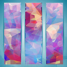 Clive Littin - Polygon Abstract in 3 Frames