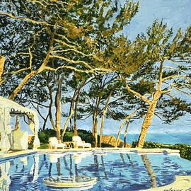 David Lloyd Glover - Poolside Sunset - Monaco